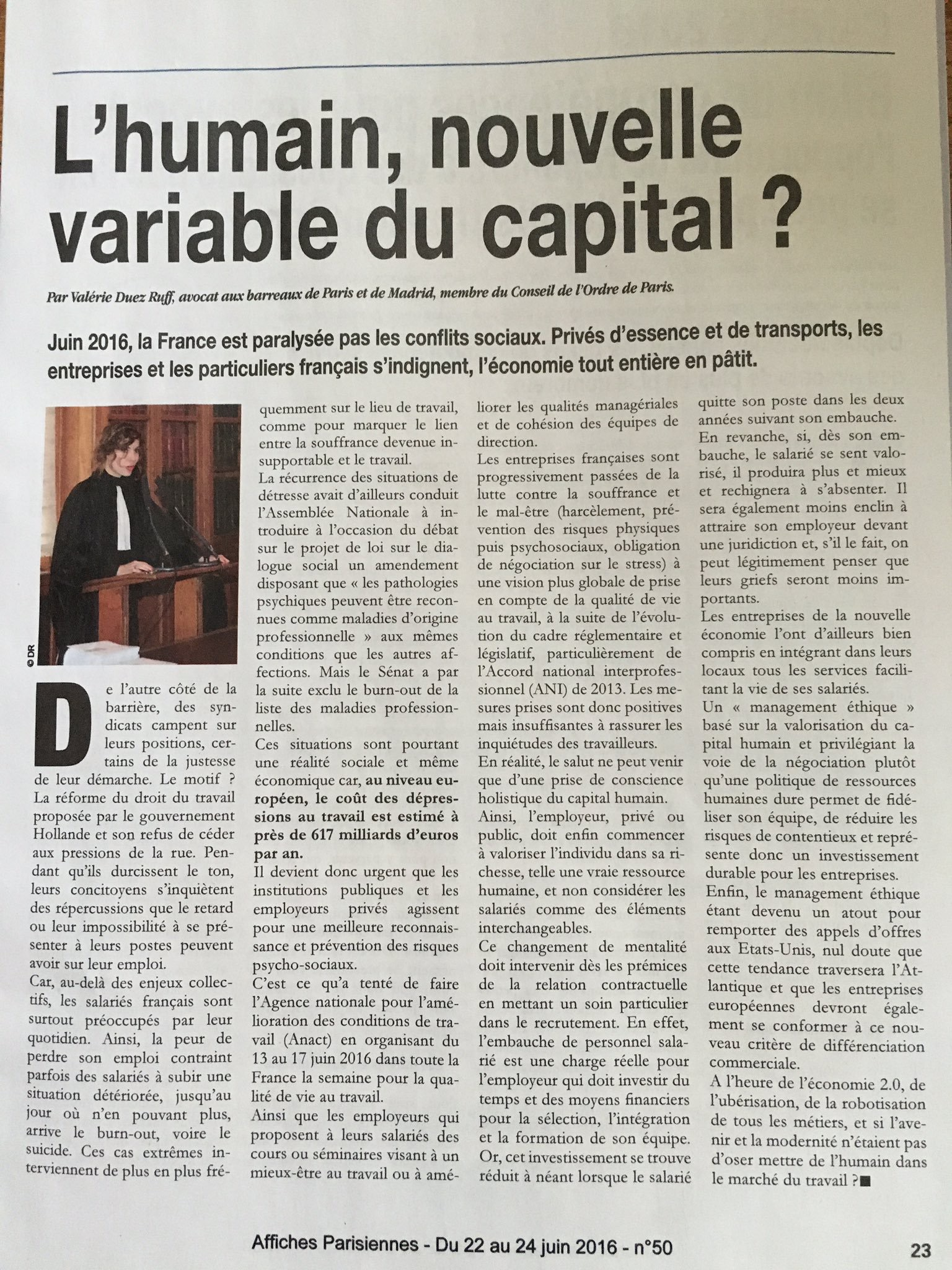 Le variable, nouvelle variable du capital?